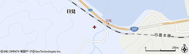 大分県津久見市日見1518周辺の地図