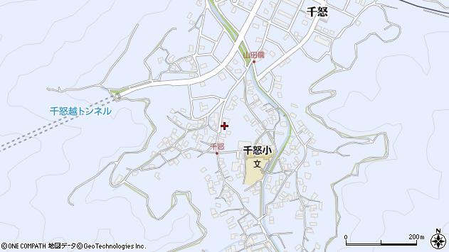 大分県津久見市千怒1468周辺の地図