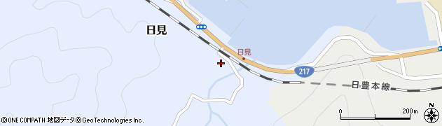 大分県津久見市日見1523周辺の地図