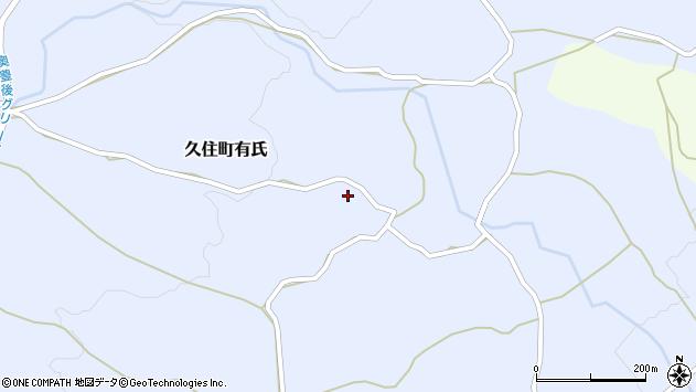 大分県竹田市久住町大字有氏313周辺の地図
