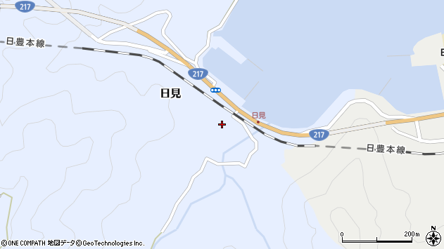 大分県津久見市日見1517周辺の地図