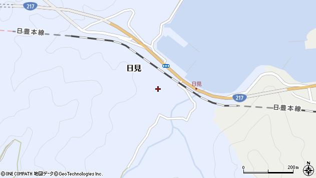 大分県津久見市日見1497周辺の地図