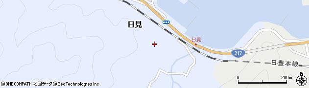 大分県津久見市日見1498周辺の地図