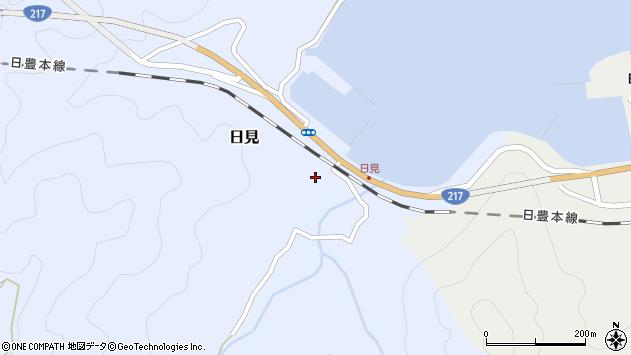 大分県津久見市日見1516周辺の地図