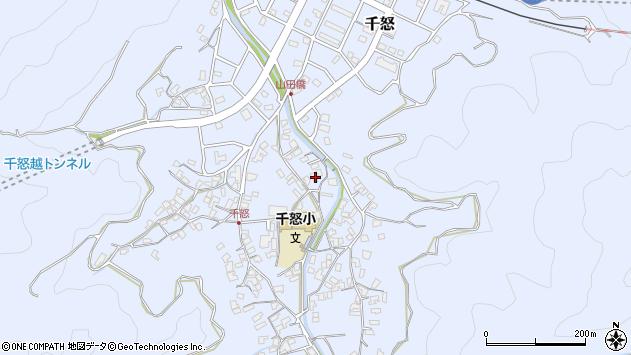 大分県津久見市千怒1358周辺の地図