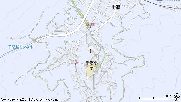 大分県津久見市千怒1489周辺の地図