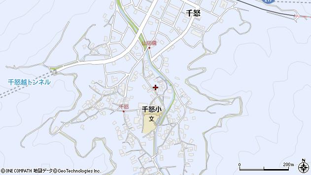 大分県津久見市千怒1343周辺の地図