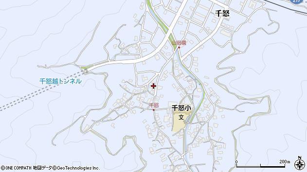 大分県津久見市千怒1533周辺の地図