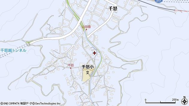 大分県津久見市千怒1347周辺の地図