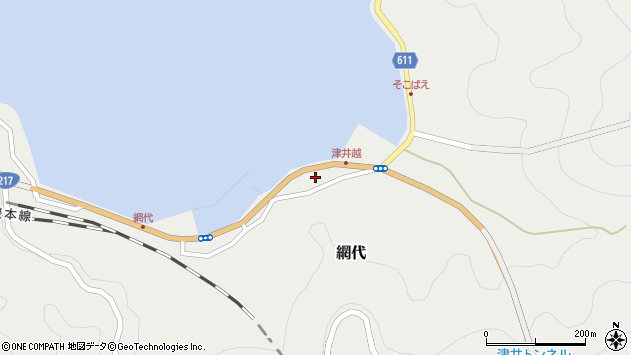 大分県津久見市網代2315周辺の地図