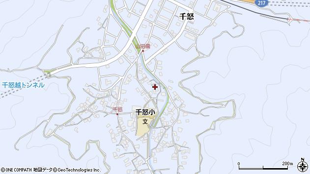 大分県津久見市千怒1345周辺の地図