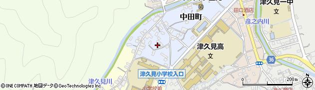 大分県津久見市中田町5周辺の地図
