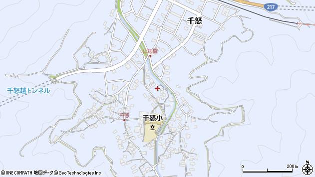 大分県津久見市千怒1339周辺の地図