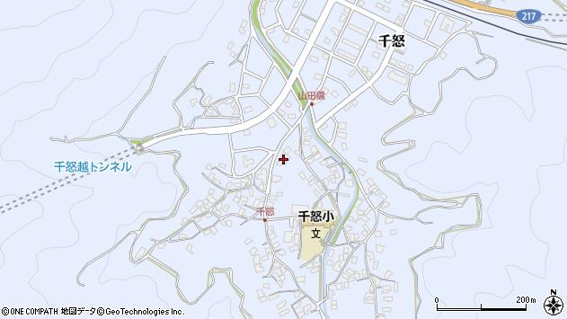 大分県津久見市千怒1553周辺の地図