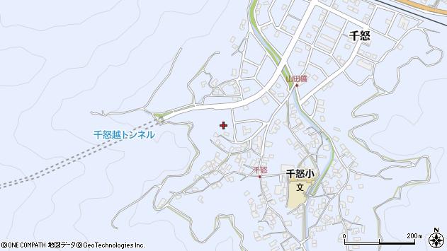 大分県津久見市千怒1167周辺の地図