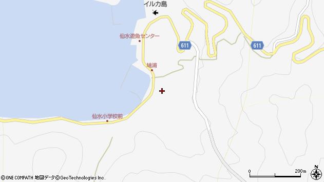 大分県津久見市四浦1558周辺の地図