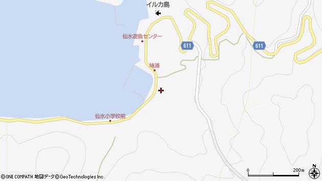 大分県津久見市四浦1552周辺の地図