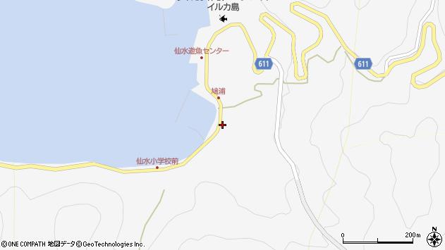 大分県津久見市四浦1555周辺の地図