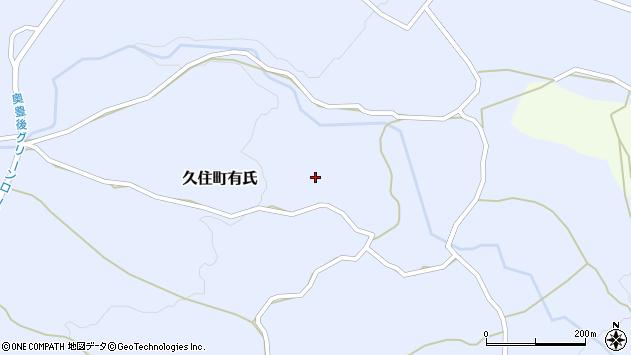 大分県竹田市久住町大字有氏309周辺の地図