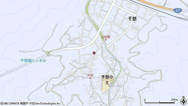 大分県津久見市千怒7038周辺の地図