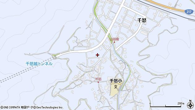 大分県津久見市千怒7031周辺の地図