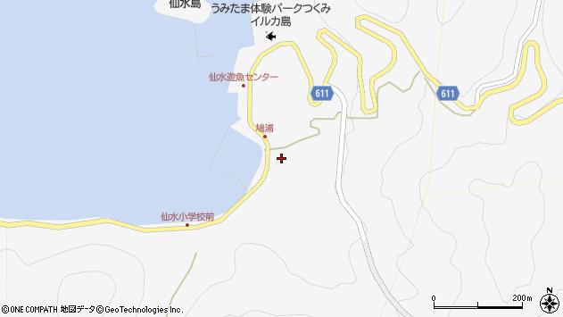 大分県津久見市四浦1609周辺の地図