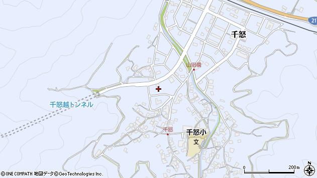 大分県津久見市千怒7025周辺の地図