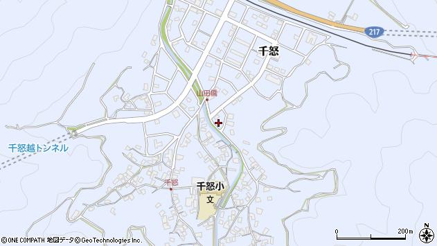 大分県津久見市千怒7258周辺の地図