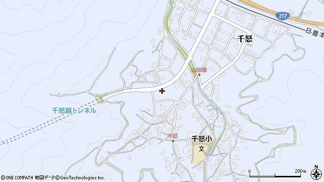 大分県津久見市千怒7026周辺の地図