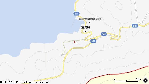 大分県津久見市四浦落ノ浦周辺の地図