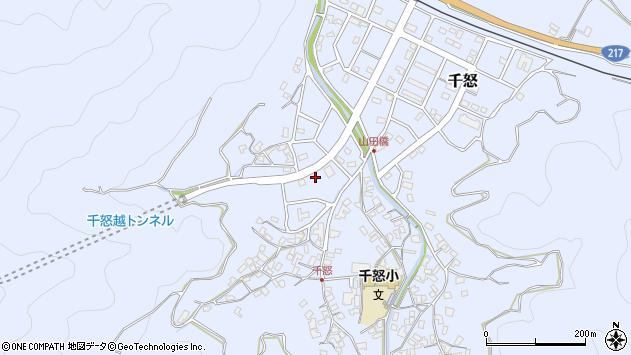 大分県津久見市千怒7034周辺の地図