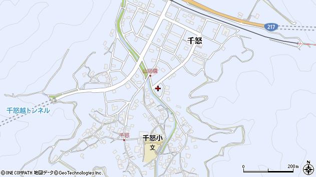大分県津久見市千怒7254周辺の地図