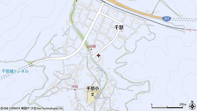 大分県津久見市千怒7256周辺の地図