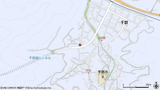 大分県津久見市千怒7083周辺の地図