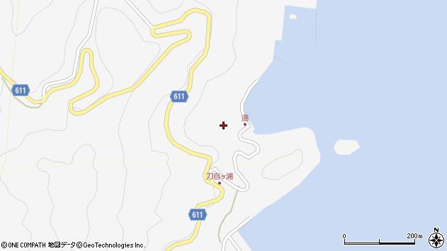 大分県津久見市四浦2469周辺の地図