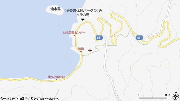 大分県津久見市四浦1570周辺の地図