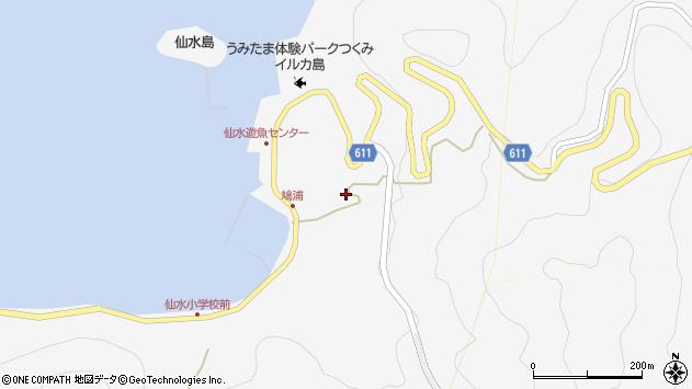大分県津久見市四浦1592周辺の地図
