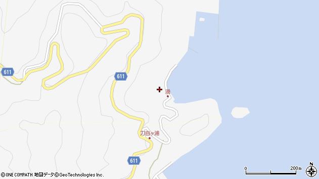 大分県津久見市四浦2434周辺の地図