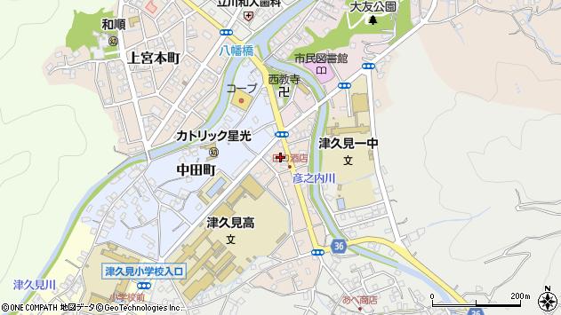 大分県津久見市文京町12周辺の地図
