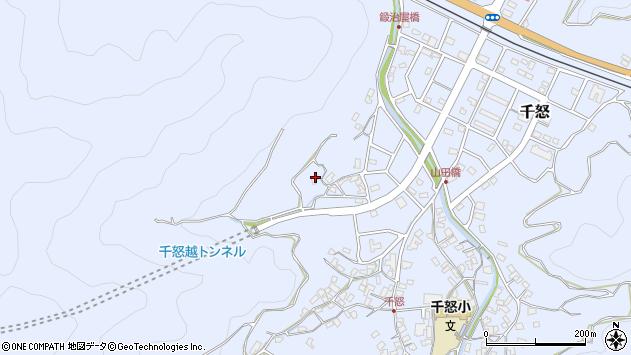 大分県津久見市千怒672周辺の地図