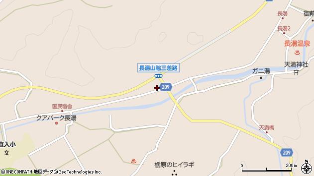 大分県竹田市直入町大字長湯7667周辺の地図