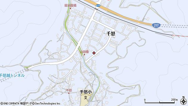 大分県津久見市千怒7245周辺の地図