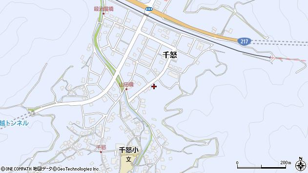 大分県津久見市千怒7276周辺の地図