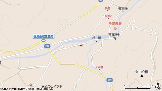 大分県竹田市直入町大字長湯7696周辺の地図