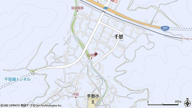 大分県津久見市千怒7240周辺の地図