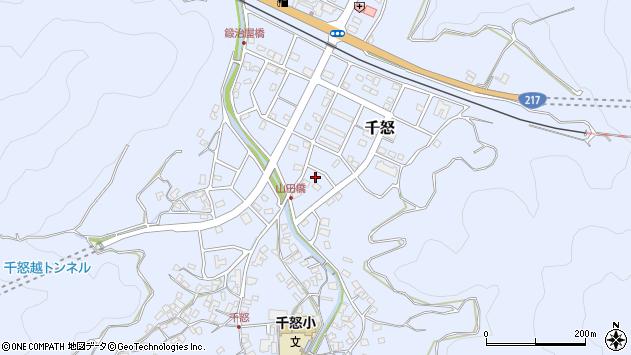 大分県津久見市千怒7243周辺の地図