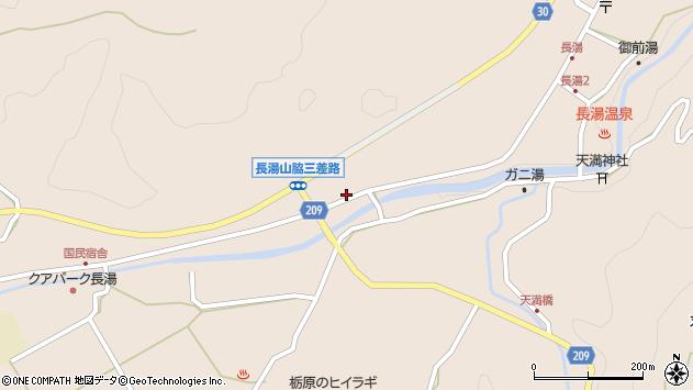 大分県竹田市直入町大字長湯7628周辺の地図