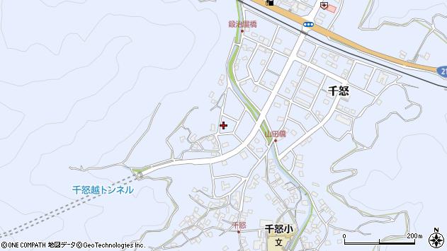 大分県津久見市千怒7090周辺の地図