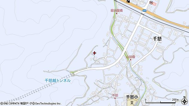 大分県津久見市千怒683周辺の地図
