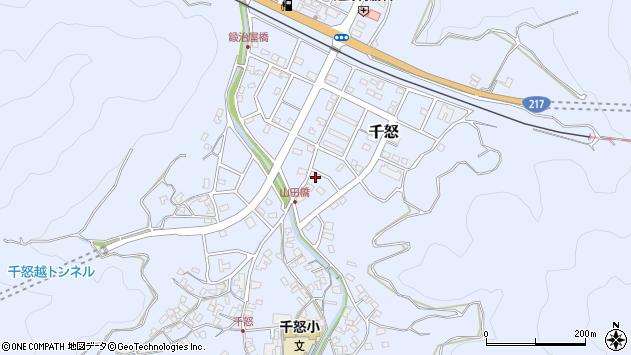 大分県津久見市千怒7242周辺の地図